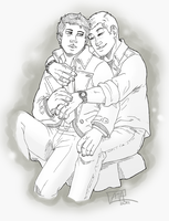 SPN Commission: Destiel by GI-Ace