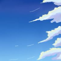 Practising clouds xD by Ginchi-chan