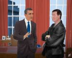 The Doctor meets Obama by Johansrobot