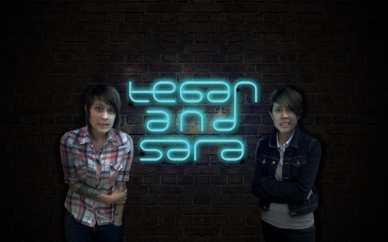 Tegan and Sara and neon by acidburnbaka