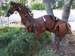 horse metal sculpture by cpl-edge