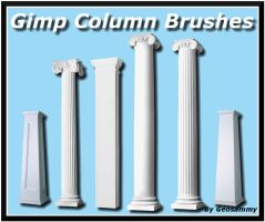 Gimp Column Brushes by Geosammy