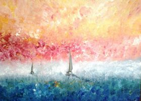 Sailing into the Sun by DavidMunroeArt