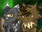 Darkstripe and Tigerstar by Silvernazo