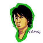 Fukuyama Masaharu finger painting on iPad2 by yumi71