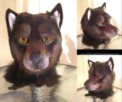 Brown Wolf Mask by Hidden-Treasury