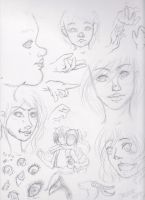Realistic to Anime Sketchdump by Implis