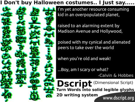Dont Buy Halloween Cstumes - Just Say - Dscript by dscript
