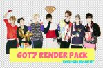 [RENDERPACK24] GOT7 JUST RIGHT PHOTO by exotic-siro