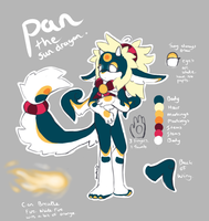 Pan the Sun Dragon Ref. by BlazeCookie