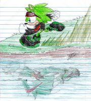 Scourge- running over the lake by 5courgesbestbuddy