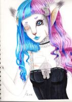Icy/Candy Kitty by LacrimareObscura