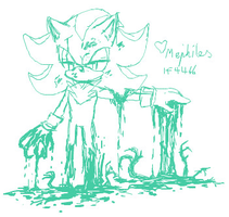iScribble - Mephiles by BlueNeedle-Inu