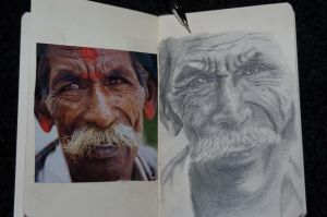 Old man Sketch by daimwn