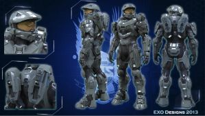 Halo 4 Master Chief armor (HD) by Dutch02