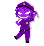 Chibi Purple Guy by bloody-kazu