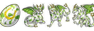 EggCave Adoptable: St. Patricks Dragon by Alkaline00