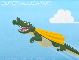 SUPER ALLIGATOR saves the day by thazumi