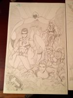 Teen Titans (prep for inks) by animaddict