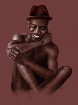 Portrait of a poet - Donte Collins by nakedsketcher