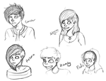 human sketches of ma SOCA by pulooka