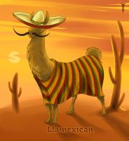 Daily Llama Project - Llamexican by TrollGirl
