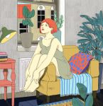 Girl sitting by catlee