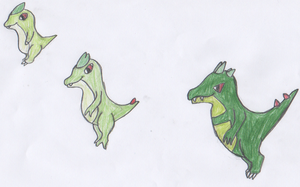 Thorn Dinosaurs (Grass Starters) by RedPanda7