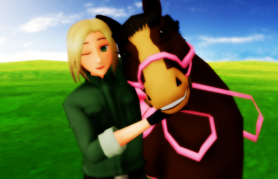 Poland and his pony by RussiaRomano