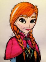 Anna from Frozen by inkandstardust