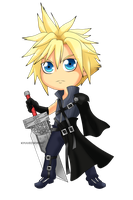 FFVII - Cloud Strife Chibi by Kanokawa