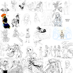 Sketch Dump 01 by ComiPa