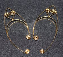 Wire Elf Ears with Hearts by themotleymasquerade