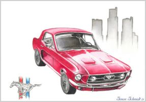 Mustang by alarie-tano