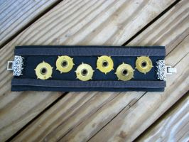 Steampunk Leather and Gear Cuf by bcainspirations