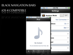 Black Navigation Bars - iOS 4 by PauloRuberto