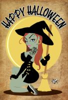 Happy Halloween Witch by CaziTena