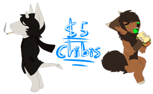 $5-$7 CHIBI COMMISSIONS! (open) by reigisa
