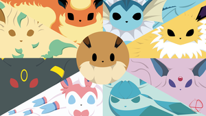 Eeveelution - Almost Minimalist Wallpaper by LeoRenahy