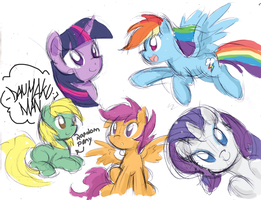 Pony Sketch Dump by DANMAKUMAN