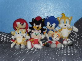 New Sonic Plushie Collection by DarkGamer2011