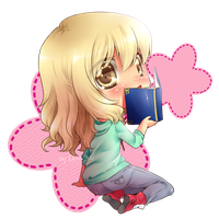 :CM: Little Shy Book Lover by DesireeU