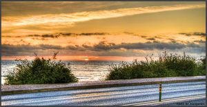 Over the road sunset by Arte-de-Junqueiro