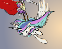 celestia and spike by UntiltheBalloons