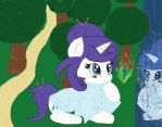 Eveing with Rarity by cottoncloudyfilly