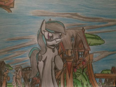 MLP: Laure wandering the city by Paladin360