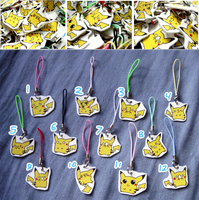 Pikachu Charms by Hazuza