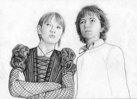 Violet and Klaus unfinished by Gonzygirl