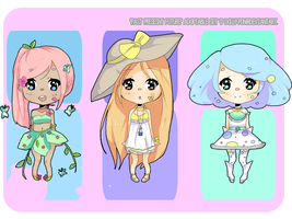 Past Present Future Adoptable Set CLOSED by dolly-pon