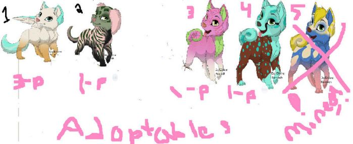 more puppy adoptables by carlie1299